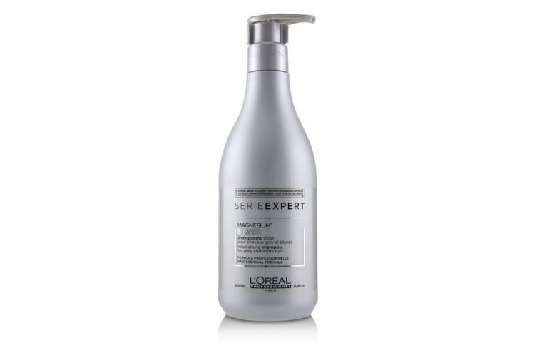 L'Oreal Professionnel Serie Expert - Silver Magnesium Neutralising Shampoo (For Grey and White Hair) 500ml
