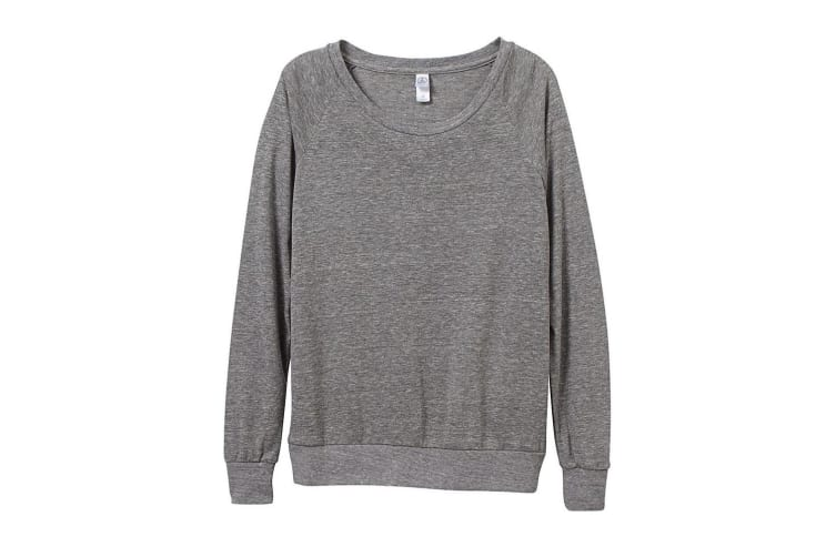 Alternative Apparel Womens/Ladies Eco-Jersey Slouchy Pullover (Eco Grey) (XL)