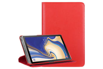 For Samsung Galaxy Tab S4 10.5in Case Red Lychee Texture Folio Leather Case