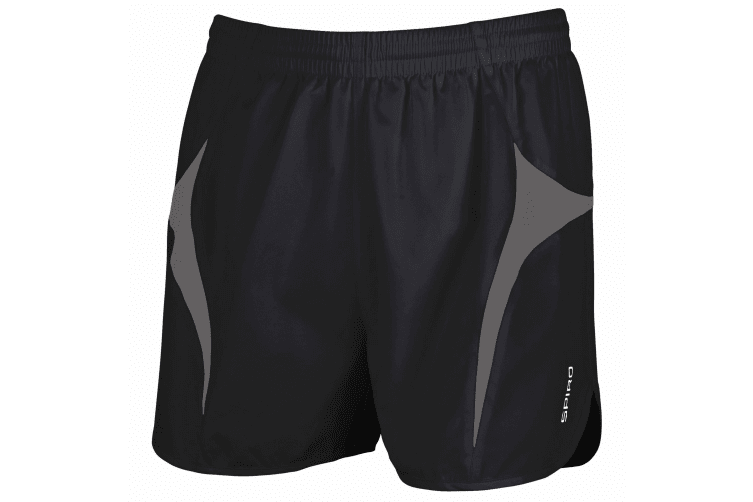 Spiro Mens Sports Micro-Lite Running Shorts (Black/Grey) (S)
