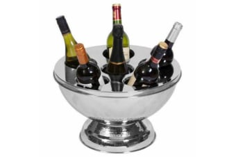 Champagne Wine  Bowl Ice Bucket Stainless Steel Cooler Bucket With Lid