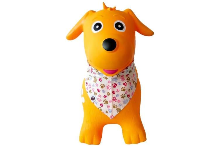 Kidi Hoppers Yellow Dog with Scarf Hopper