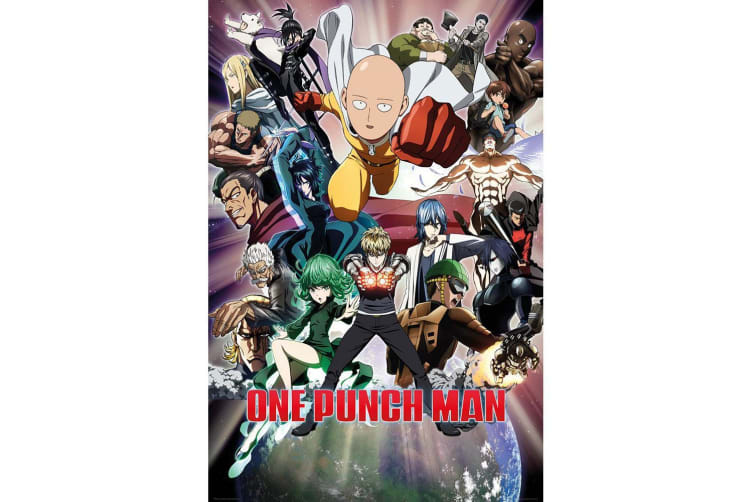 One Punch Man Anime Official Poster (Multicolour) (One Size)