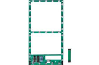 Jumbo 7 Segment Digit LED Display Kit Aux output is provided for driving a decimal point colon Red LEDs