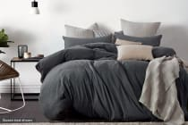 Gioia Casa Jersey Cotton Quilt Cover (Black Marble)