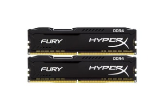 Kingston HyperX Fury 16GB (2 x 8GB) DDR4-2933MHz CL17 - Black (Intel XMP