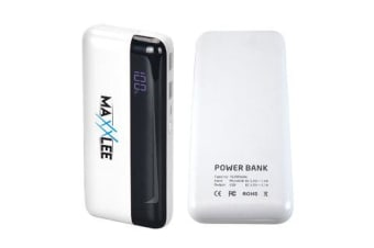 Maxxlee 16000 mAh Power bank Battery Charger Mobile Portable USB iPhone iPad Fast ChargeWHITE Elinz