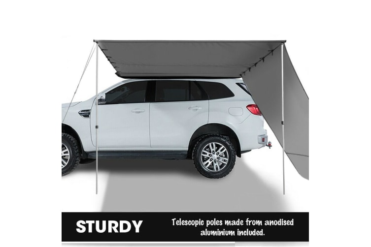 3x3M Car Side Awning Extension Roof Rack Covers Tents Shades Camping 420D