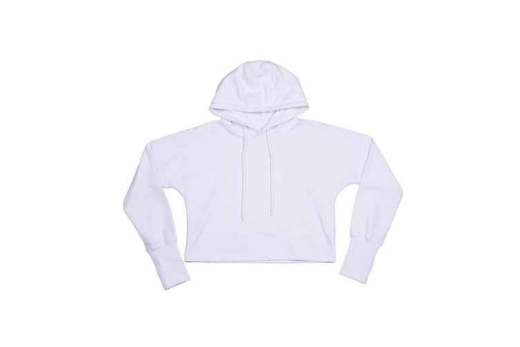 Mantis Womens/Ladies Cropped Hoodie (White) (XL)