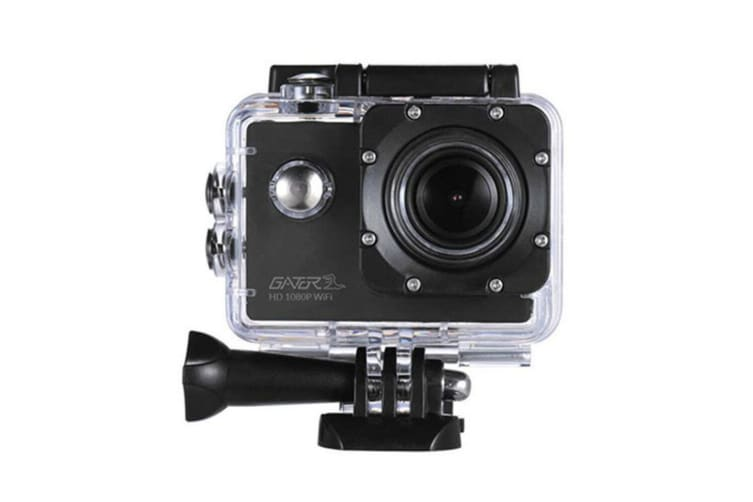 Gator FHD 1080p WiFi 30m Waterproof Sports Action Camera Video Camcorder w/Mount