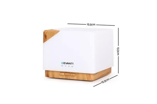 DEVANTi Aroma Aromatherapy Diffuser LED Light Oil Square Air Humidifier Purifier