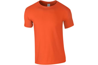 Gildan Mens Short Sleeve Soft-Style T-Shirt (Orange) (XXL)