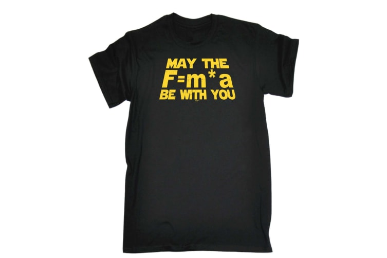 123T Funny Tee - May The Force Be With You F M A - (Small Black Mens T Shirt)