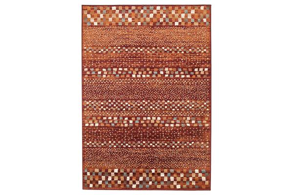 Mayfair Squares Rust Rug 290X200cm