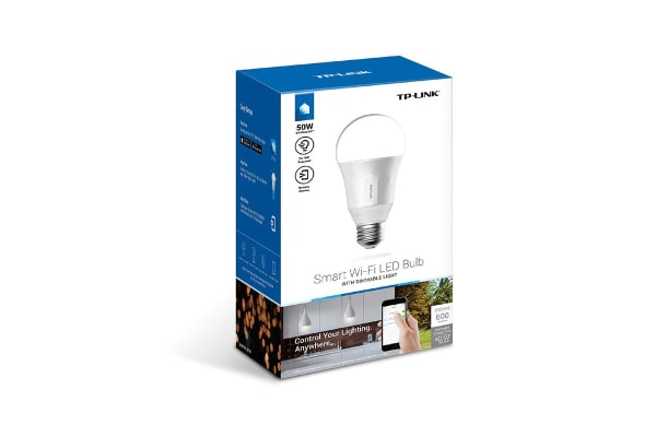 TP-Link LB100 Smart LED Light Bulb, Wi-Fi, Dimmable White, A19, E27/B22 Base, 50W Equivalent, No Hub Required (LB100)