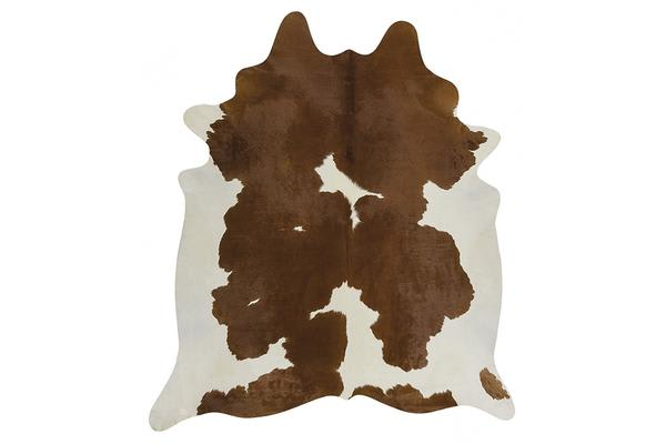 Exquisite Natural Cow Hide Brown White 170x180cm