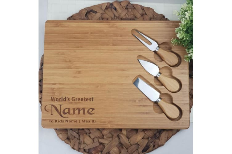Personalised Bamboo Cheese Board - Dad