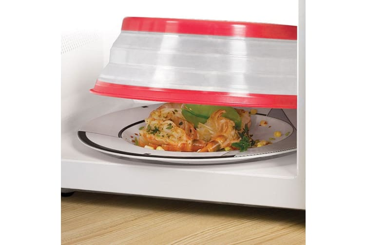 Tovolo Microwave Safe Bowl Plate Cover Collapsible Food Reheat Protector Lid