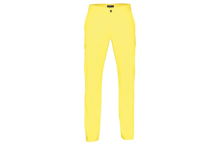 Asquith & Fox Mens Classic Casual Chinos/Trousers (Lemon Zest) (ST)