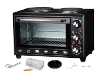 Maxim Kitchenpro 28L Oven With Hot Plates & Rotisserie (MOHP28R)