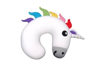 Gamago Unicorn Travel/Flight Cushion Headrest Neck Support Head Rest Pillow WHT