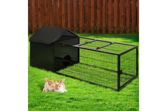 i.Pet Rabbit Cage Hutch Cages Indoor Hamster Enclosure Metal Bunnings Carrier