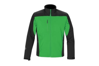 Stormtech Mens Edge Softshell Jacket (Waterproof And Breathable) (Treetop Green/Black)