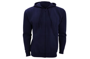 SOLS Mens Seven Full Zip Hooded Sweatshirt / Hoodie (French Navy) (L)