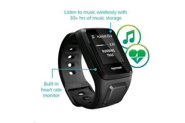 TomTom Spark Cardio + Music GPS Fitness Watch, Small