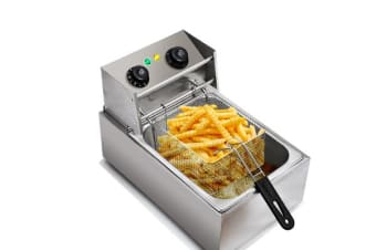 Electric Deep Fryer - 10L Frying Basket with Timer