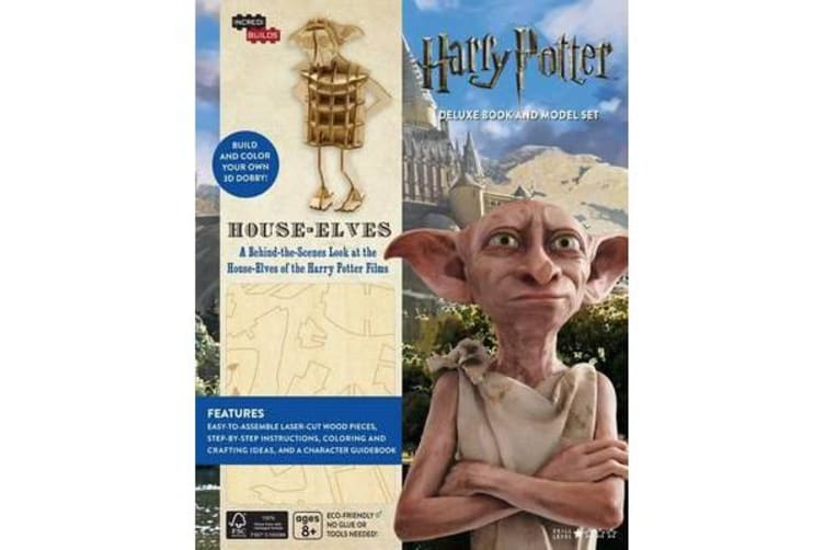 IncrediBuilds: Harry Potter: House-Elves - Deluxe Model and Book Set