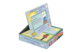Mindfulness on the Go - Includes 52 Cards and a 64-Page Illustrated Book, All in a Flip-Top Box with an Easel to Display Your Mindfulness Cards