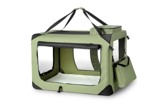 4XL Dog Portable Soft Carrier Cage Crate - Green