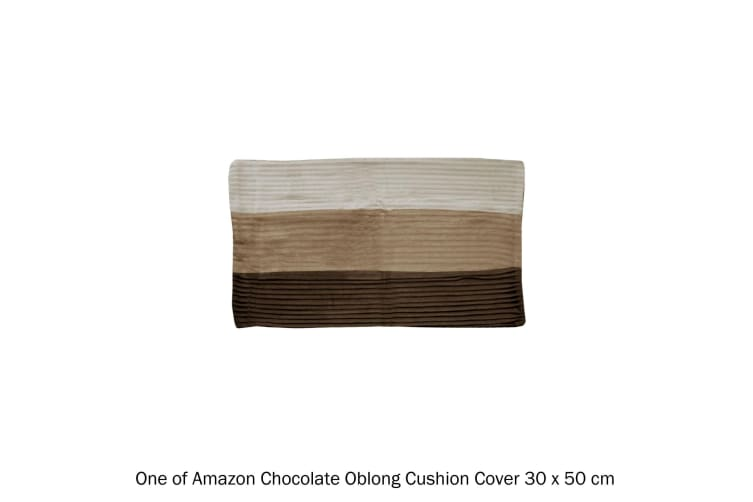 Amazon Chocolate Oblong Cushion Cover by Manhattan