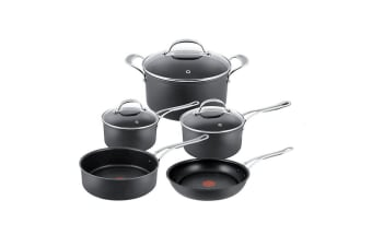 Jamie Oliver Premium Hard Anodised Induction 5pc Cookware Set