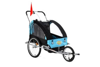 Kidbot Kids Bike Trailer Child Bicycle Stroller Jogger - Blue and Black