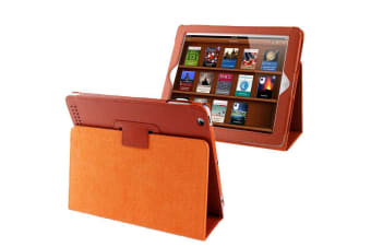 For iPad 2/3/4 Case Modern Lychee Leather High-Quality Shielding Cover Orange