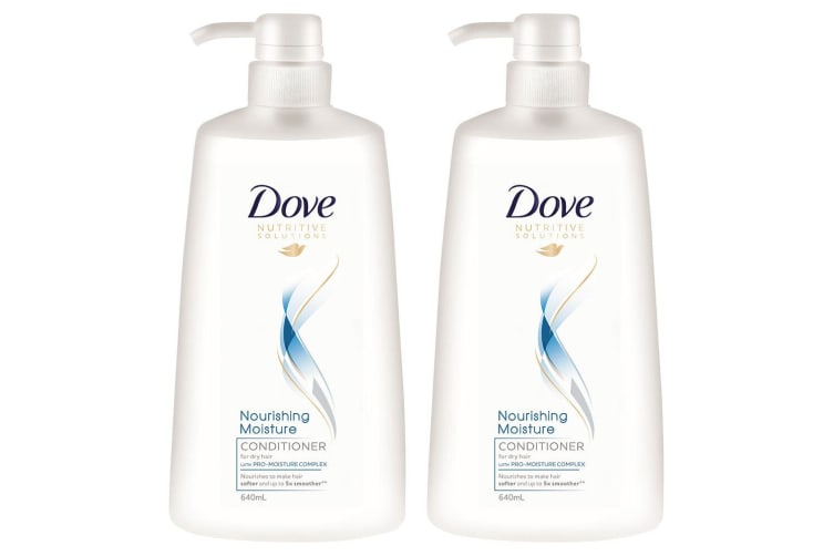 2x Dove 640ml Conditioner Nourishing Moisture Pro-Moisture Complex Dry Hair Care