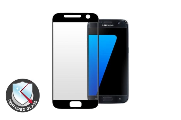 Premium Tempered Glass Screen Protector for Samsung Galaxy S7 (Black)