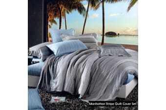 Manhattan 100% Cotton Quilt Cover Set - King