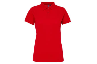 Asquith & Fox Womens/Ladies Short Sleeve Performance Blend Polo Shirt (Cherry Red) (XS)