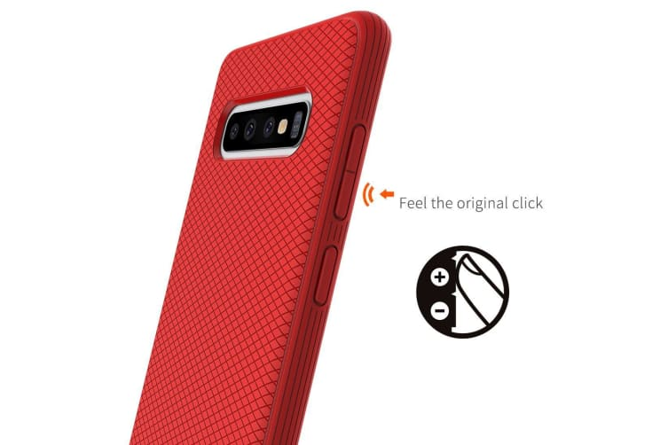 For Samsung Galaxy S10+ Plus Armour Case Snap Red Armor Shock Proof Slim Cover