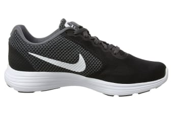 Nike Women's Revolution 3 Shoe (Dark Grey/White/Black, Size 6)