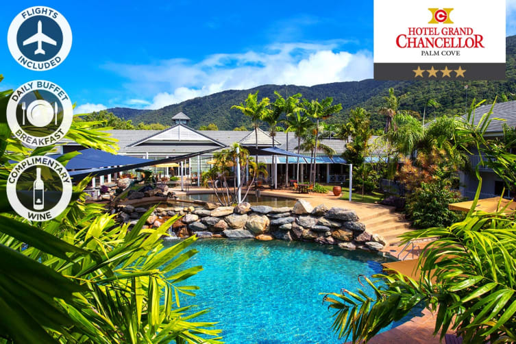 PALM COVE: 3 Nights at Hotel Grand Chancellor Palm Cove Including Flights for Two (Departing BNE)