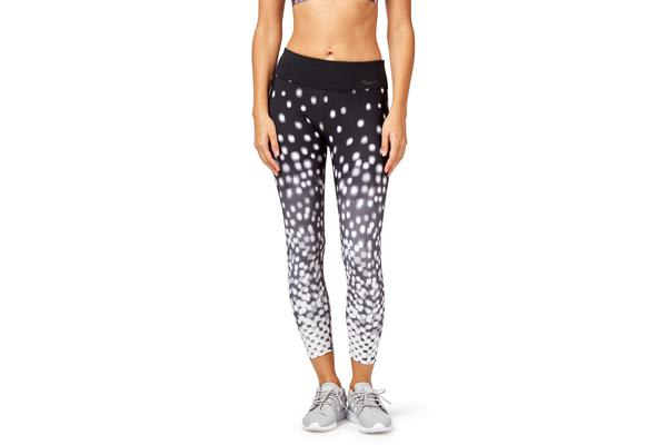 Saucony Scoot Crop Tight (White/Black, Size L)