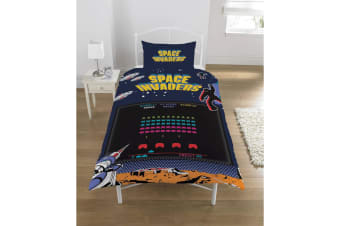 Space Invaders Coin Op Duvet Set (Multicoloured)