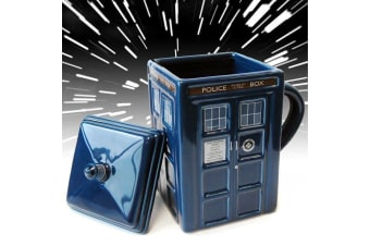 Doctor Who Tardis Mug With Lid - Blue