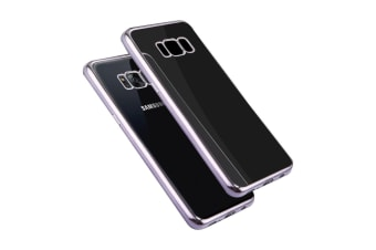 For Samsung Galaxy S8 Case Transparent Electroplating Protective Cover Grey