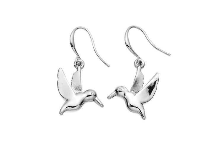 Intrigue Womens/Ladies Bird Dangle Earrings (Silver) (One Size)