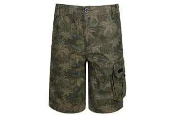 Regatta Kids Shorewalk Multi Pocket Shorts (Grape Leaf/Camo) (11-12 Years)